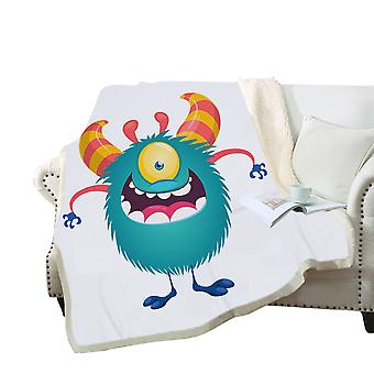 3D colorful cartoon monster blanket Polyester multi-purpose blanket high-quality