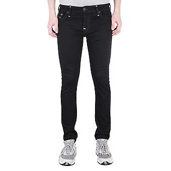True Religion Tony Skinny Super T Black Denim Jeans