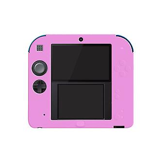 For Nintendo 2DS Soft Silicone Handheld Console Protector Skin Cover Shell Case[Pink]