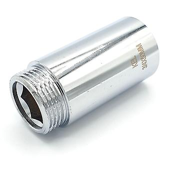 3/4 '' BSP (22mm) Pipe Thread Extension femelle x mâle laiton Chrome - 10 à 50mm de long