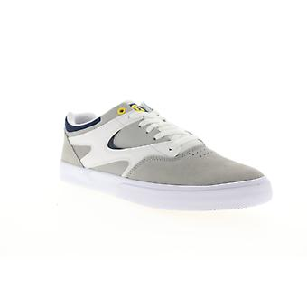 DC Kalis Vulc  Mens Gray Suede Lace Up Skate Sneakers Shoes