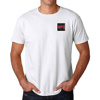 Corpo de pessoal militar Provost MPSC bordado logotipo do TRF - camisa de algodão T oficial de exército britânico