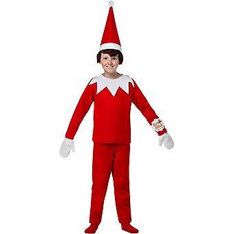Röd Elf barn kostym