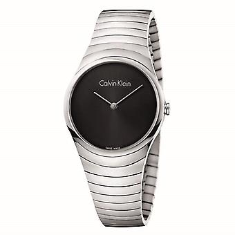 Calvin Klein K8A23141 Whirl Black Dial Stainless Steel Ladies Watch