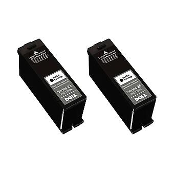 RudyTwos 2x Replacement for Dell X768N Ink Unit Black Compatible with P513W, V313, V313W, P713W, V715W, V515W
