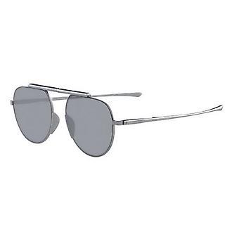 كالفن كلاين CK8055S 038 لامعة خفيفة Gunmetal / فضة مرآة النظارات الشمسية