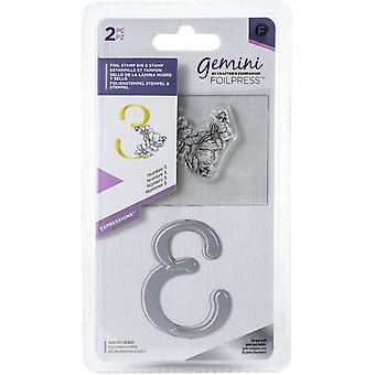 Gemini Number 3 Expressions Foil Stamp Die & Stamp