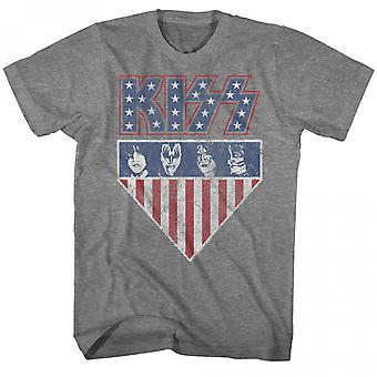 KISS American Flag Colors T-Shirt