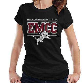 East Mississippi Community College ljus nödställda lejon logo typen kvinnor ' s T-shirt