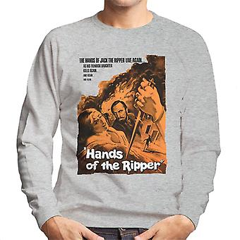 Hammer Horror Films Hands Of The Ripper Movie Poster Men's Sweatshirt