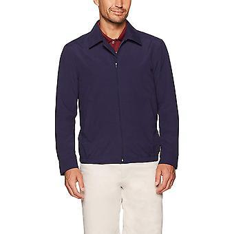 Essentials Men's Water-Resistant Golf Jacket, Navy, Large