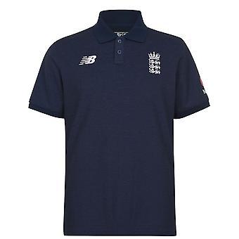 New Balance ECB Angleterre Cricket Polo Shirt Hommes