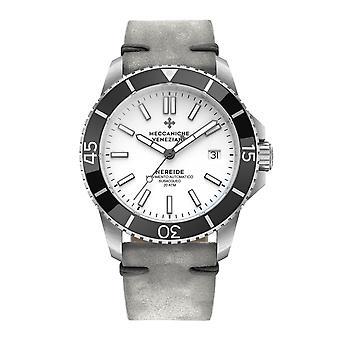 Meccaniche Veneziane 1302010 Nereide Black Bezel White Dial Automatic Wristwatch