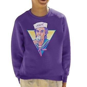 Ahoy Steve Harrington Scoops Ahoy Stranger Things Kid's Sweatshirt