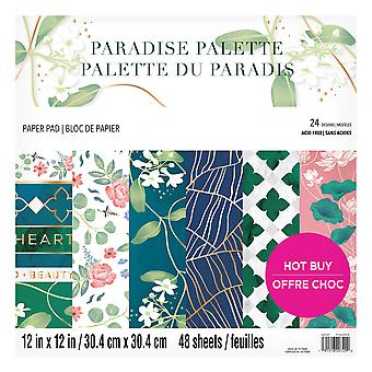 Craft Smith Paradise Palette 12x12 Inch Paper Pad