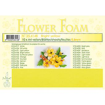 Leane Creatief Flower Foam Sheets A4 Bright Yellow