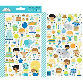 Doodlebug Design Party Time Mini Icone Adesivi