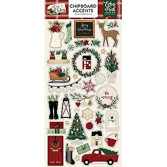 صدى بارك A عيد الميلاد دافئ 6x13 بوصة تشيببورد لهجات