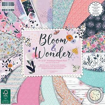 Almohadilla de papel De primera edición Bloom y Wonder de 12x12 pulgadas