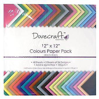 Dovecraft 12x12 tommer farver papirpakke