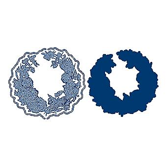 Tattered Lace Cornflower Iris Crescent Die Set