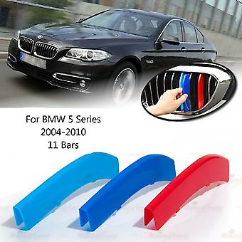 BMW 5-serie 2004-2010 11 Bars Clip In Grill M Power Kidney Stripes Cover