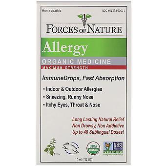 Krachten van aard, Allergie, Organische Geneeskunde, ImmuneDrops, Maximum Sterkte, 0.34