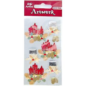 Advent Candles Christmas Card Embellishments By Artoz