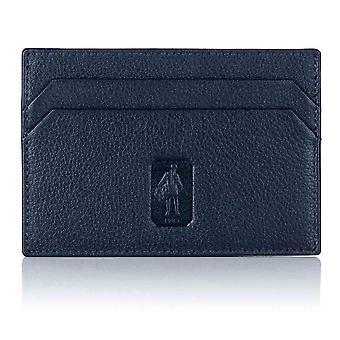 Navy Malvern Leather Slim Card Holder