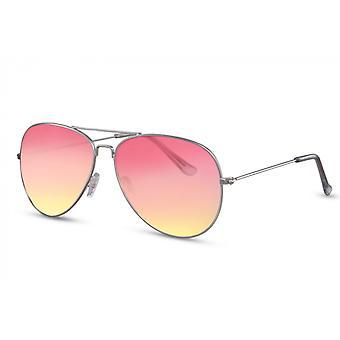 النظارات الشمسية المرأة التجريبية كامل مؤطرة cat.2 الفضة / الوردي