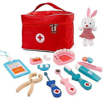Baby Wooden Pretend Play Doctor Educationa Toys