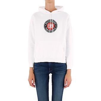 Balenciaga 612959tjvd79000 Women's White Cotton Sweatshirt