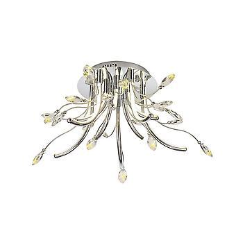 Luminosa Verlichting - Medium Celing, 10 x 3,5 W LED, 3000K, 1146lm, Gepolijst chroom
