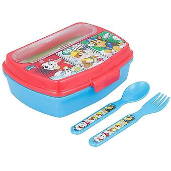 Paw Patrol 3 in 1 Lunchbox With Fork And Spoon