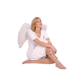 Large White Feather Wings 65x65cm Fancy Dress Costume Accessory