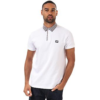 Men's Weekend Offender Nicks Check Collar Polo Shirt in White