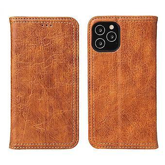 IPhone 12 Pro Max -kotelon PU-nahkalompakon suojakansi Kickstand Khaki