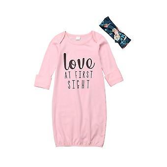 Pasgeboren Baby Nightgowns Katoenen Jurk Pyjama Set Slaapkleding Jurk