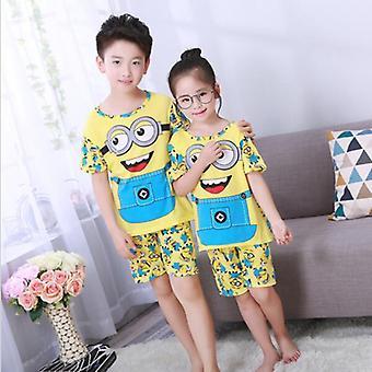 Baby Girl Boys Pajamas Set Cartoon Casual Clothing Costume Short Sleeve Set-2