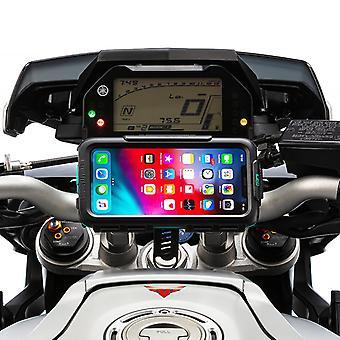 Iphone xs max turvallinen moottoripyörä kova tapauksessa ohjaustanko asentaa
