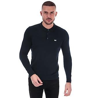 Men's Weekend Offender Dunway Long Sleeve Polo Shirt in Blue