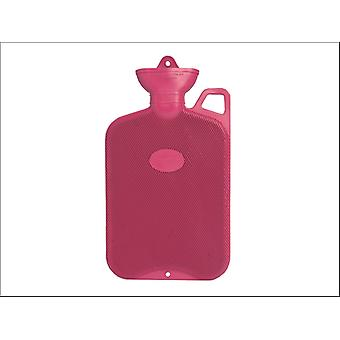 Coronation Hot Water Bottle & Handle Single Ribbed 2L Assorted PR406