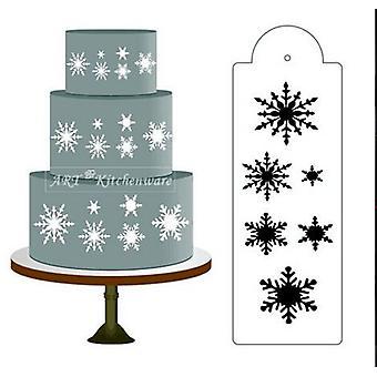 Schneeflocke Seite Kuchen Schablone Border Designer Dekorieren Handwerk Cookie Backen Werkzeug