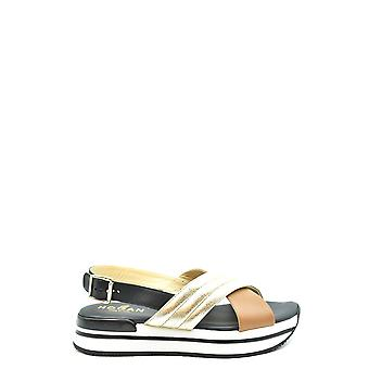 Hogan Ezbc030224 Women's Multicolor Leather Sandals