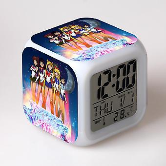 Colorful Multifunctional LED Children's Alarm Clock -Sailor moon #20