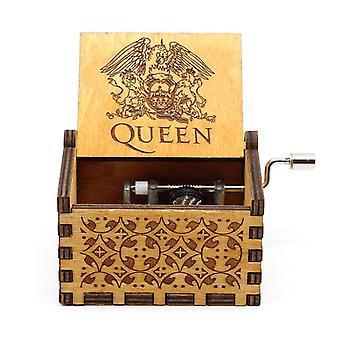 Wooden Hand Cranked Music Box - Theme Bohemian