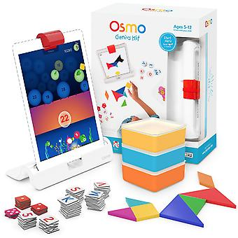 Osmo - genius kit for ipad - 5 hands-on learning games - ages 6 - 10 - maths, spelling, problem solv