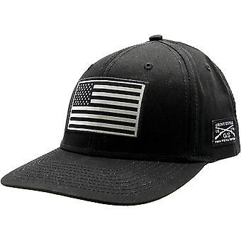 Grunt Style American Flag Hat - Black