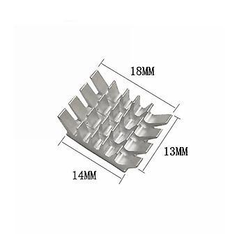 10kpl 14 * 18 * 13 Jäähdytin Alumiini Heatsink Tietokoneen jäähdytinpatteri