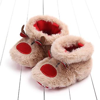 Cartoon Deer Warm Plush Crib Shoes